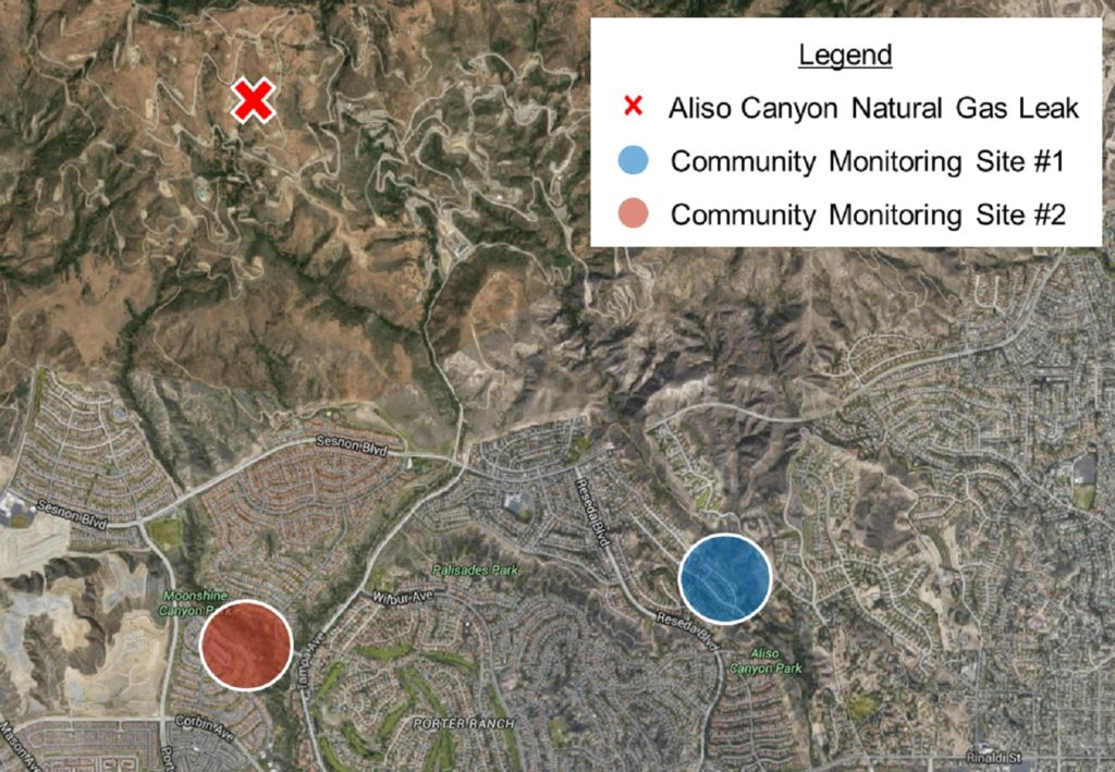 map of aliso canyon gas leak